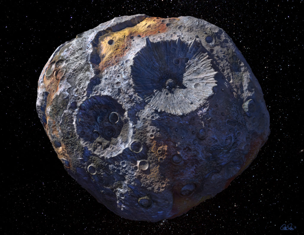 This artist's conception shows the Psyche asteroid.