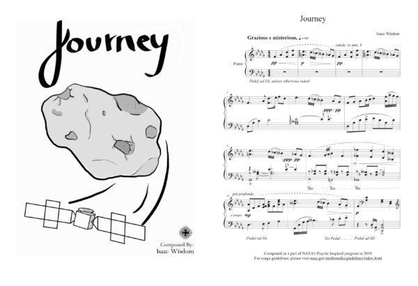 This is a screenshot of the sheet music composition entitled Journey.