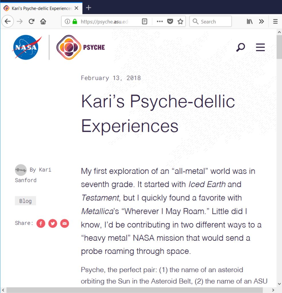 This is a screenshot of the blog post showing the title and the opening text.