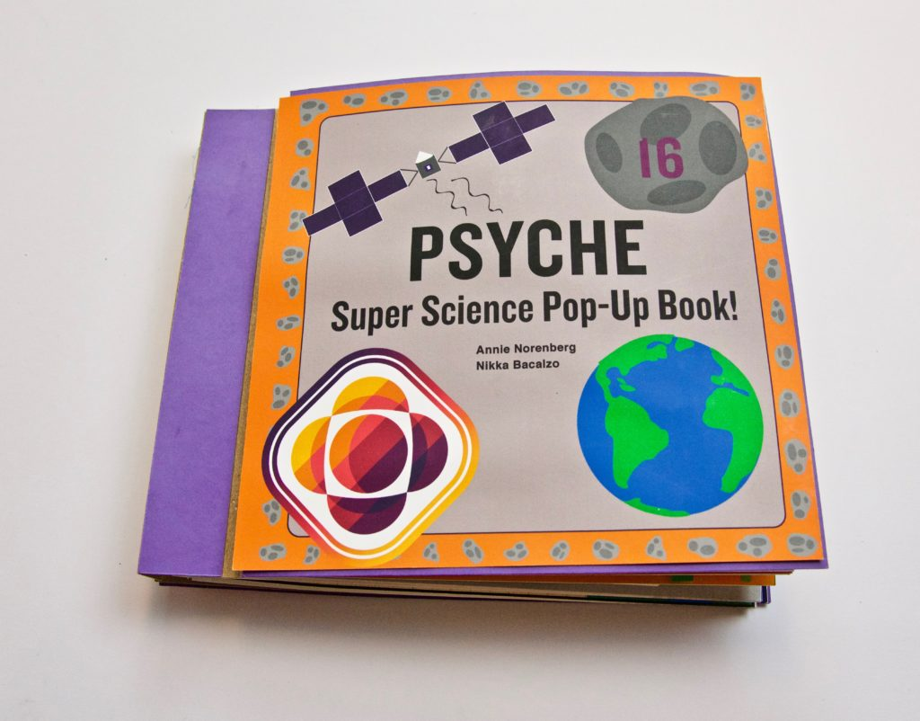 This image shows the front cover of the Psyche pop-up book.